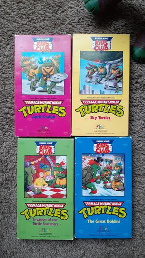 Teenage Mutant Ninja Turtles VHS collectibles for Sale in Riverview, FL