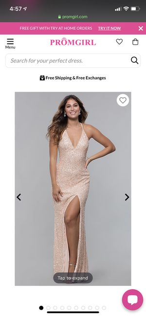 Prom girl sparkly dress for Sale in Redondo Beach, CA