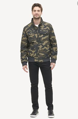 NWT Tommy Hilfiger Mens Camo Water Wind Resistant Utility Bomber Jacket XLarge New with tags for Sale in Buckhannon, WV