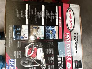 new honda pressure washer 3700psi for Sale in Hoffman Estates, IL