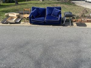 Free two piece couch and more!!! for Sale in Charlotte, NC