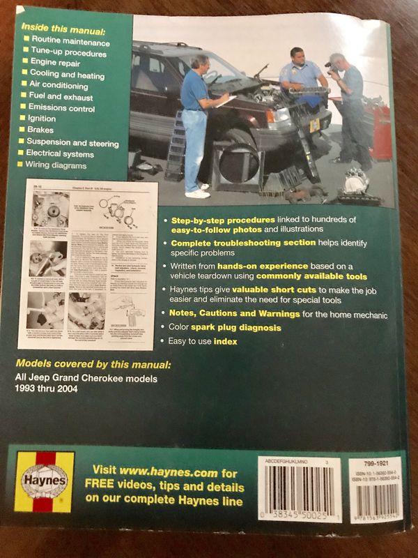 Jeep Grand Cherokee Haynes Repair Manual