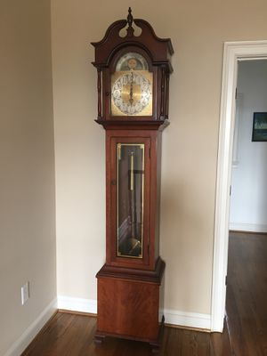 Antique Grandfather clock. Hand made case with inscription my maker. German movement. Nice! for Sale in Simpsonville, SC