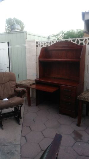 Mohogany desk , two marbel end tables , and rocking chair if you want desk alone $100 tables and chairs$50 $150 all together for Sale in Phoenix, AZ