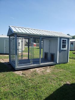 Dog kennel for two shed storage tiny home house hunting cabin for Sale in Ocala,  FL