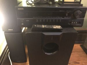 Onkyo Surround Sound with sub woofer for Sale in Trenton, NJ