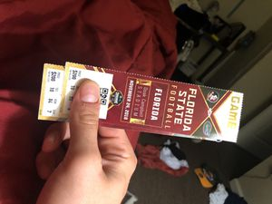 2 Florida state gator football tickets for Sale in Tallahassee, FL