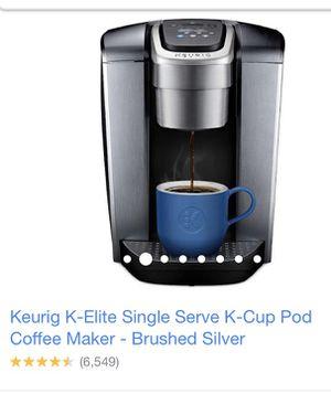 Keurig K-Elite Single Serve K-Cup Coffee Maker for Sale in Chesapeake, VA