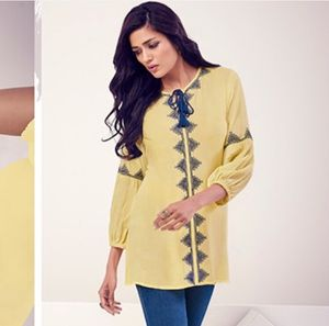 Light yellow Embroidery 🧵 Tunic for Sale in Manchester, CT