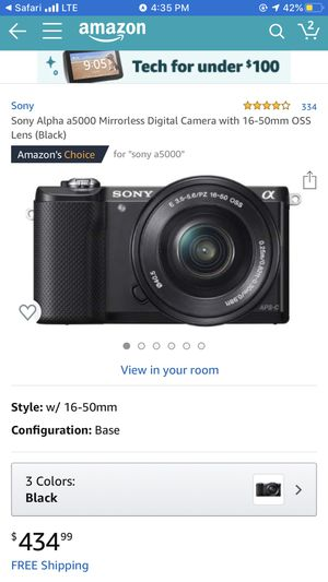 Sony a5000 camera for Sale in Hialeah, FL