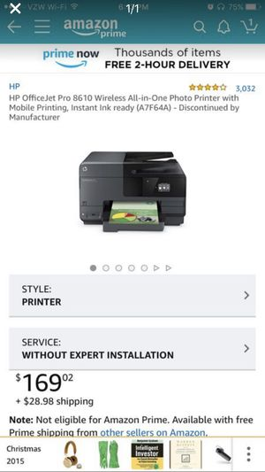 HP Color Printer - 8610. All in one: copier, scanner, printer. for Sale in Austin, TX