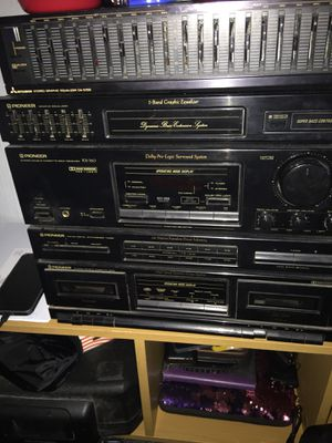 Pioneer, cassette , receiver, equalizer complete set. for Sale in Blackstone, VA