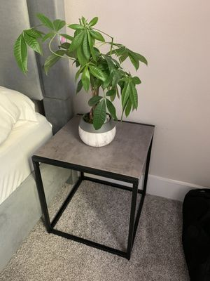 Pair of Bedside / End table - concrete color - LIKE NEW for Sale in Dallas, TX