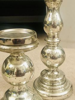 Pier 1 Imports Pillar Mercury glass Candle holder Set for Sale in San Francisco,  CA