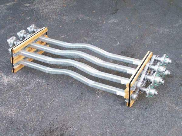 """Boat Trailer Axles - Torsion - for 72"""" and 80"""" axles - We carry all trailer axles, trailer parts, trailer tires - we repair trailers"""