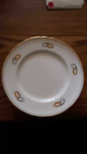 Tuscan bone china small plates wedlock design for Sale in Lakeside, AZ