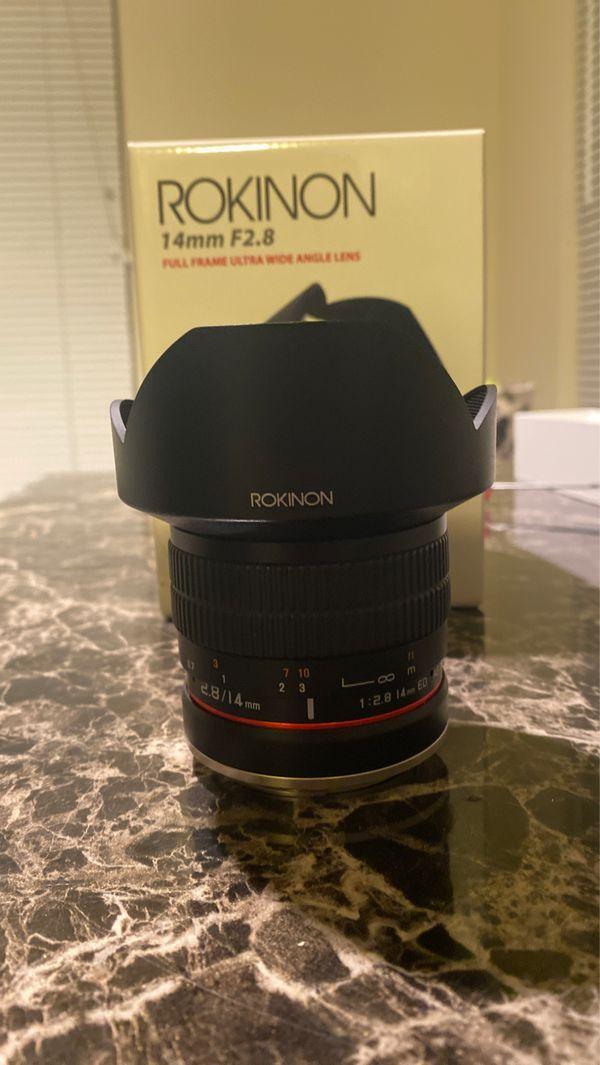 Rokinon 14 mm full frame ultra wide angle lens for Canon