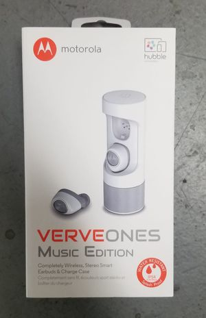 Motorola SH010 VerveOnes Music Edition Bluetooth Stereo Smart Earbuds for iOS, Google - White for Sale in Weston, FL