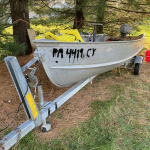 16ft John Boat with Trailer And Accessories for Sale in Lancaster, PA