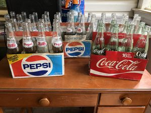 Old school 16 oz. Coke and Pepsi pint bottles! for Sale in Bethesda, MD