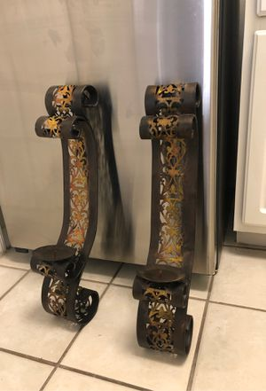 Set of 2 metal large candle holders (in Brandon) for Sale in Tampa, FL