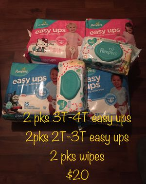 Pampers Easy Ups and Wipes bundle for Sale in Durham, NC