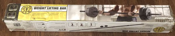 NEW curl bar and straight bar weights not included