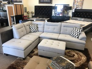 Sectional sofa with ottoman on sale only at elegant Furniture 🛋🎈 for Sale in Fresno, CA