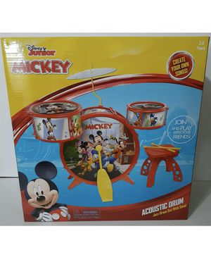 Disney Mickey Mouse Junior Acoustic Jazz Drum Set With Stool for Sale in Bakersfield, CA