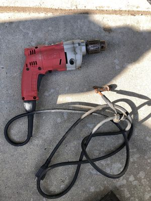 Milwaukee Drill with chord and chuck key for Sale in Fontana, CA