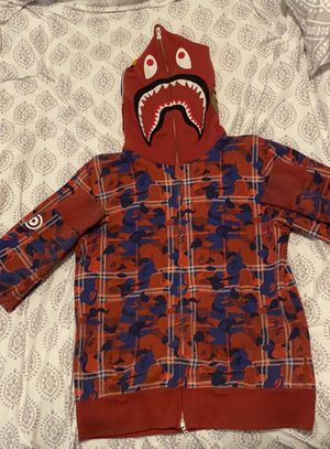 Bape Plaid Full Zip Shark Hoodie for Sale in Spring Hill, TN