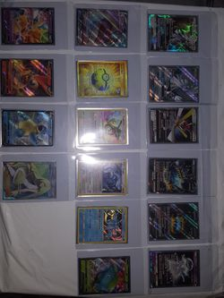 Pokemon Cards In Sleevs All Halos! 150$ For All 17 Cards for Sale in Fresno,  CA