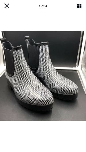 Jeffrey Campbell Ankle Rubber Rain Boots Plaid NWOB Size 9 for Sale in Fort Lauderdale, FL