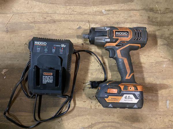 Ridgid 18v 1/2 impact with 4.0 ah battery