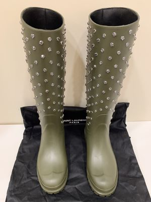 "SAINT LAURENT ""Festival"" Rubber Rain Boots for Sale in Scottsdale, AZ"