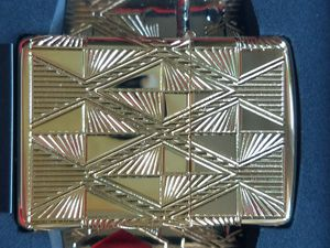 Zippo luxury diamond design armor multi cut engraving gold plated 29671 for Sale in Los Angeles, CA