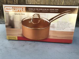 3 qt copper sauce pan for Sale in Monrovia, CA