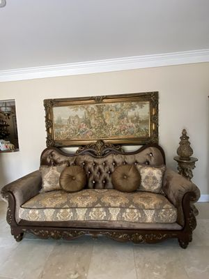 Very beautiful gorgeous living room sets sofa and loveseat victorian brand new for Sale in Troy, MI