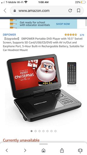 Portable DVD player works but has a cracked screen for Sale in Irvine, CA