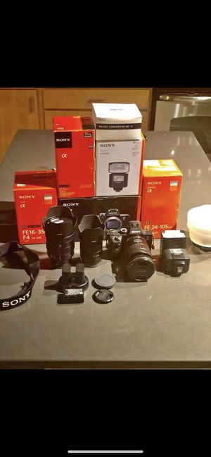A7riii kit with lenses for Sale in Saint Paul, MN