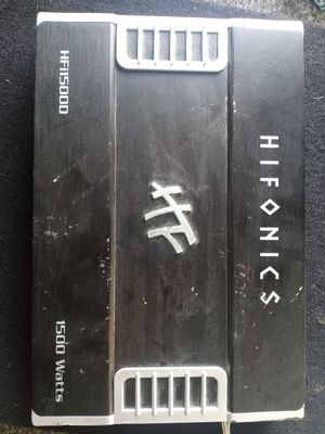 HiFi hifonics 1500w 1ohm stable for Sale in Madera, CA