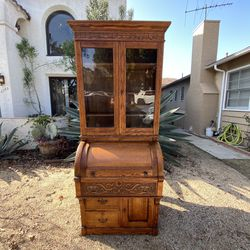 Victorian Cylinder Secretary desk Only Available At Magnolia And Willow for Sale in Signal Hill,  CA