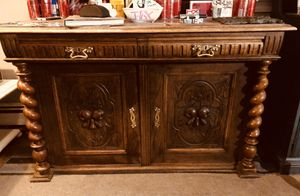 Antique Credenza made in Honduras oak for Sale in Silver Spring, MD