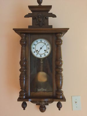 Antique Junghans wall clock in Good Running condition 31''x14'' for Sale in Rockville, MD
