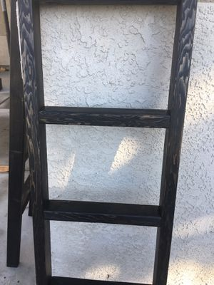 Ebony black blanket throw ladder for Sale in Ceres, CA