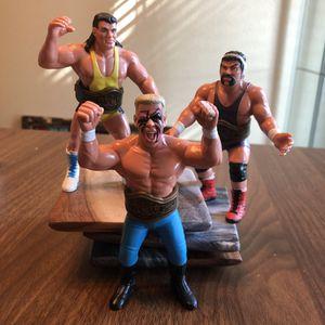 Galoob 1990 WCW wrestling action figures vintage wwf toy lot of 3 for Sale in Riverside, CA