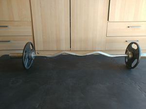 Professional Olympic EZ Curl Bar With Weights! for Sale in San Diego, CA