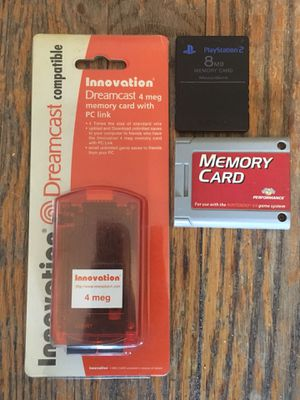 MEMORY CARD LOT N64 DREAMCAST PS2 NINTENDO SEGA SONY PLAYSTATION GBA SNES NES MORNING RARE RETRO VINTAGE for Sale for sale  Brooklyn, NY