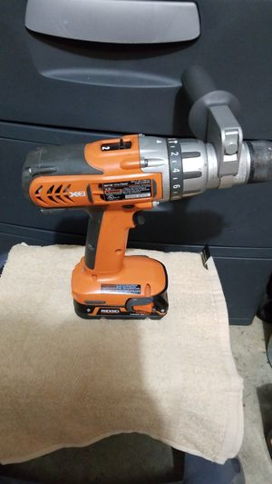 Ridgid hammer drill with battery for Sale in Germantown, MD