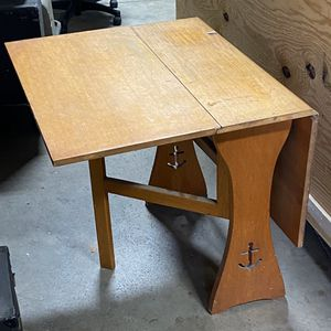 Antique Drop Leaf Dinette Table with Achor Motif for Sale in Livonia, MI